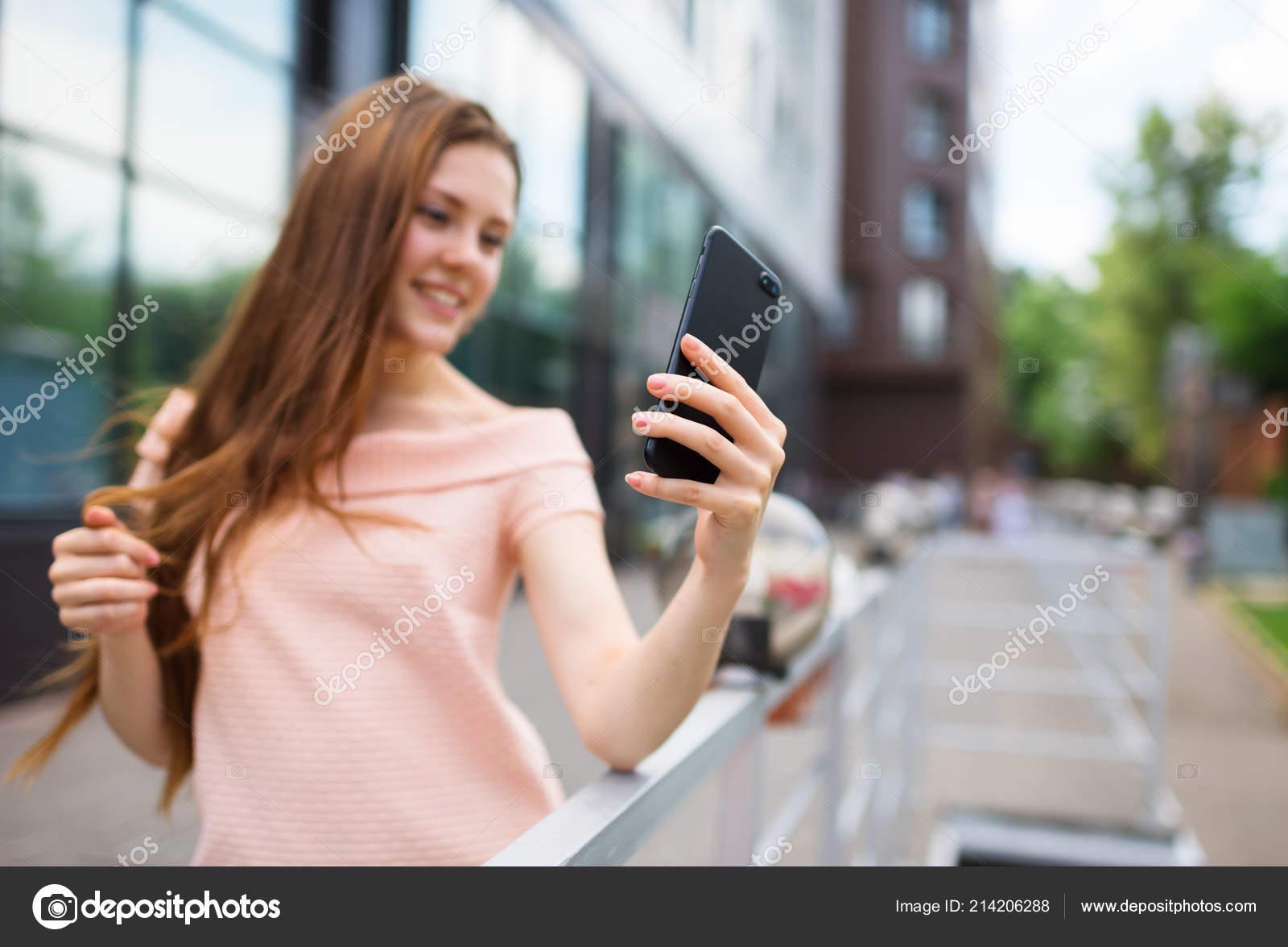 Teen girl selfie shot