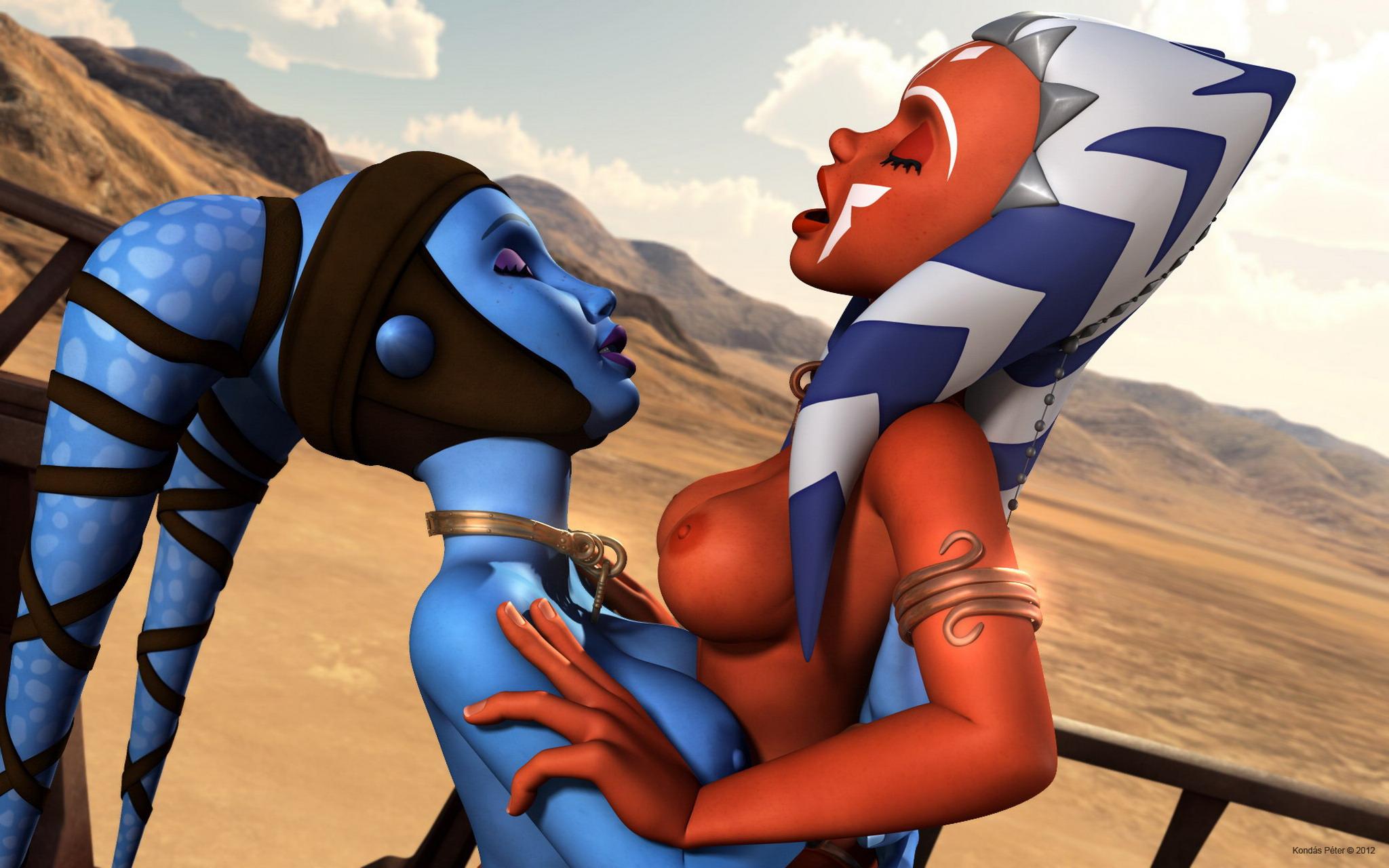 Star wars ahsoka tano aayla secura porn