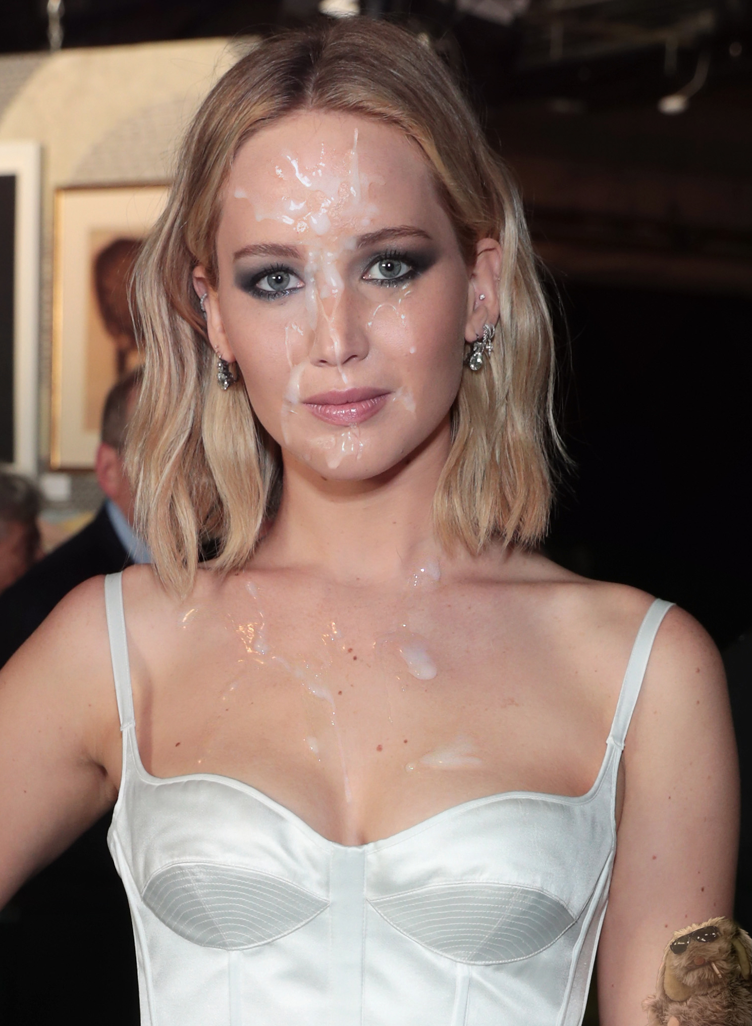 Jennifer lawrence cum on face photo