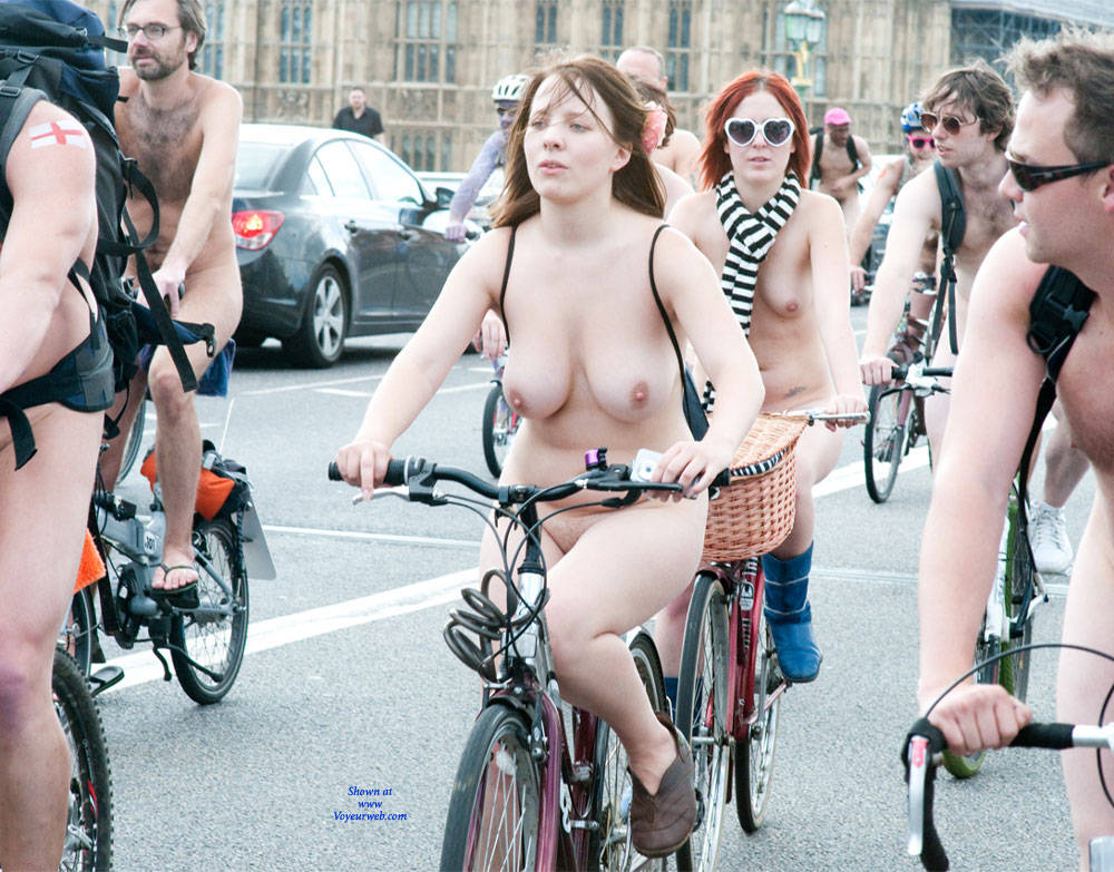 Bike riding naked porn