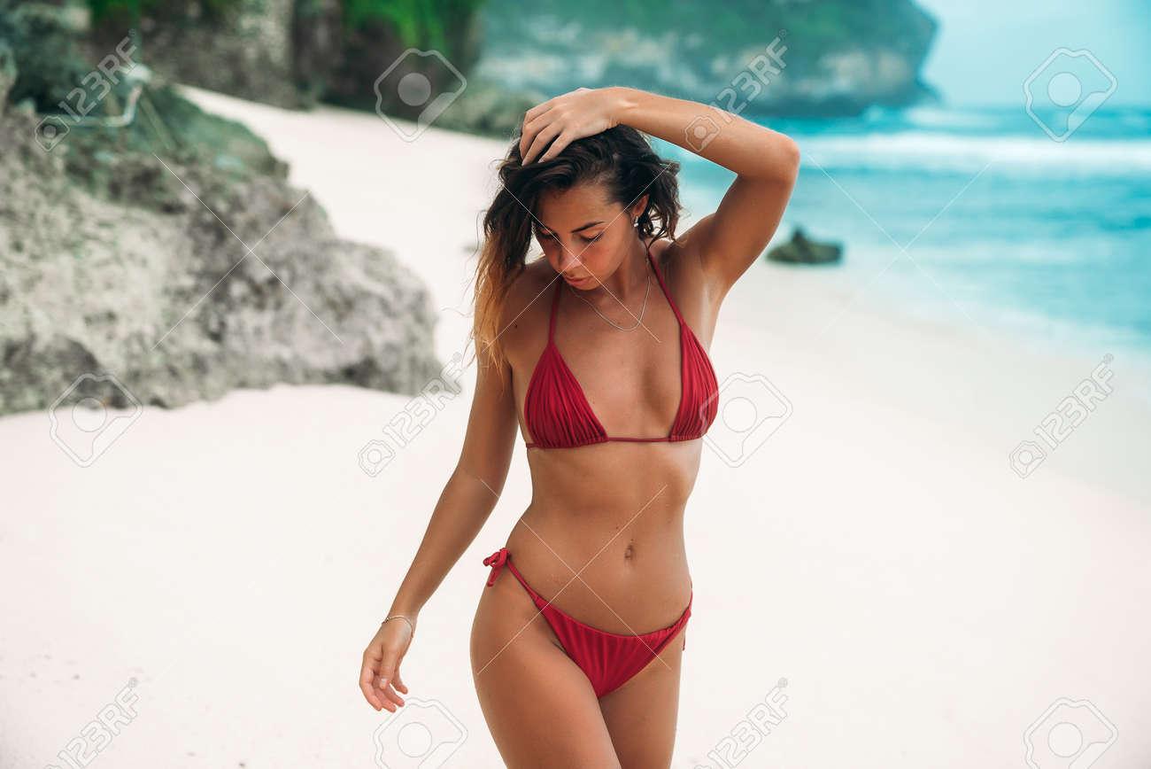 Suit sex bathing on beach