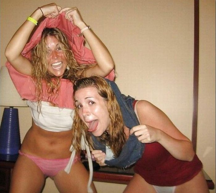 Drunk young teens flashing