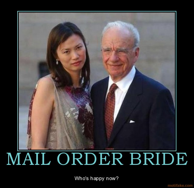 Mail order bride demotivational