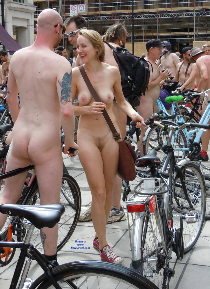 Bike riding naked porn