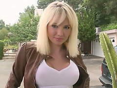 Russian blonde boob pussy