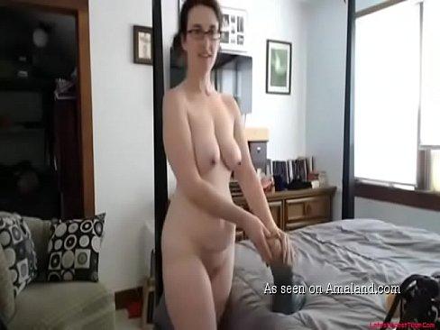 Caught mom masterbating with dildo