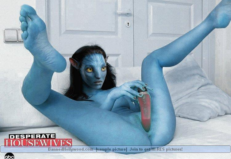 Sexy blue avatar naked