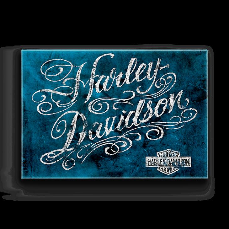 Harley- dvidson vintage script