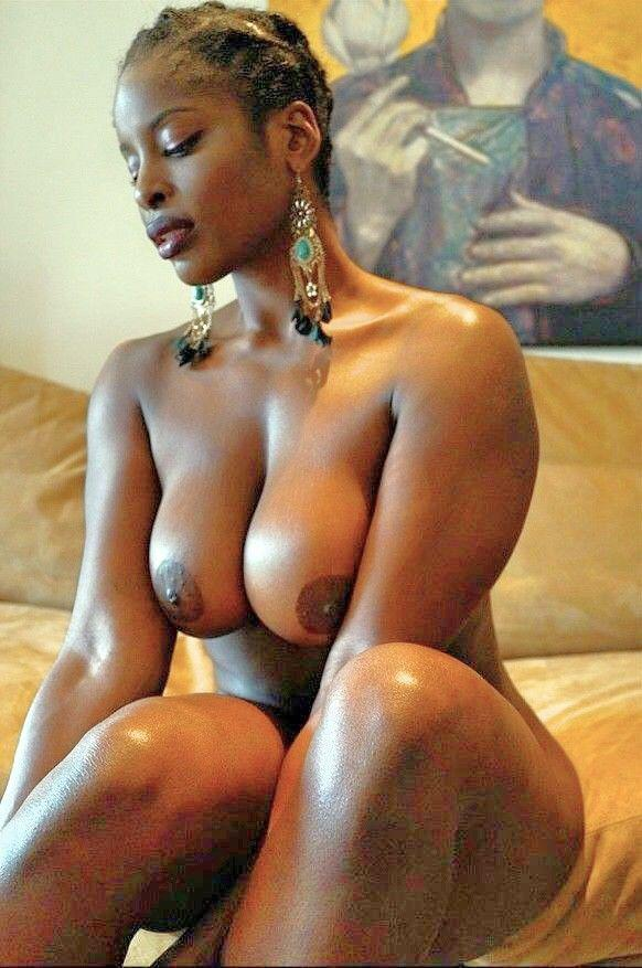 Black nacked african girl with big boobs
