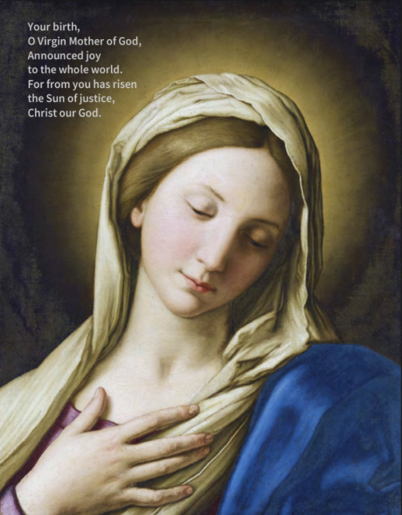 Ancient prayer to blessed virgin