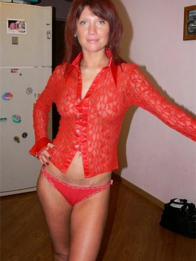 Older woman cougar in lingerie