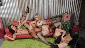 Mature women in satin slips