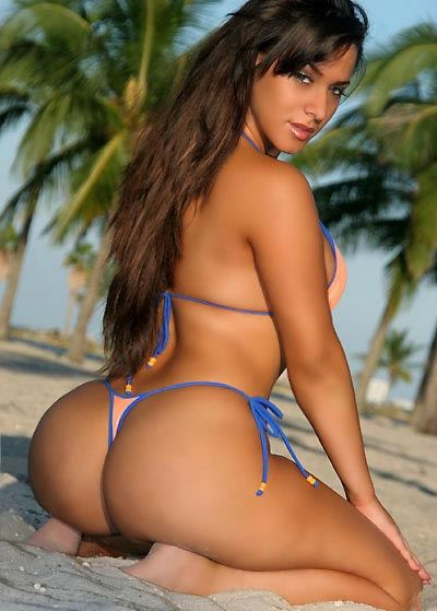 Sexy thong bikini models