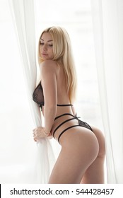 Sexy blonde ass cute butt