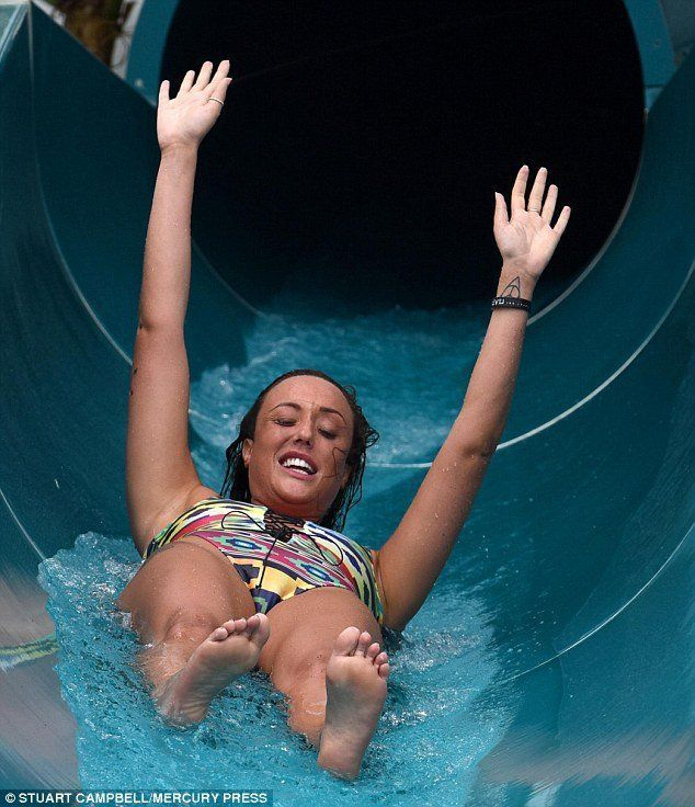 Girls flashing tits at water parks