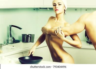 Kitchen pretty nude women