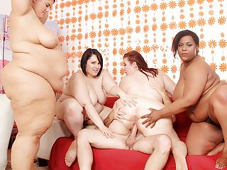 Sex party reverse gangbang