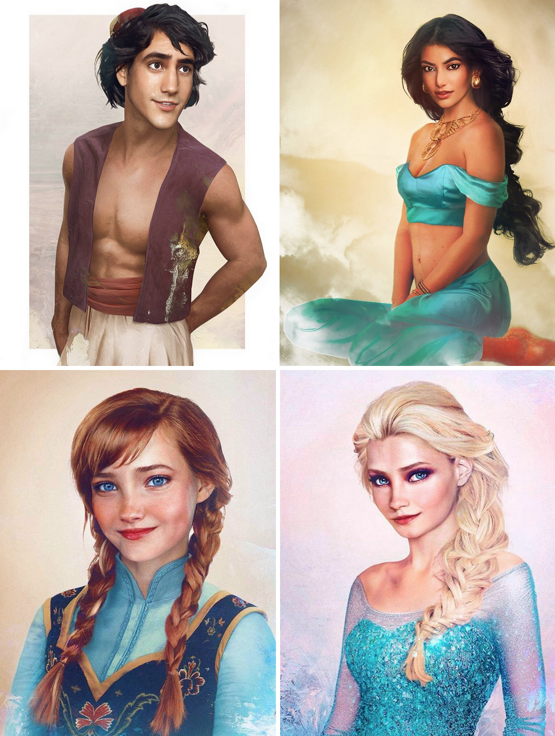 Disney characters as real people