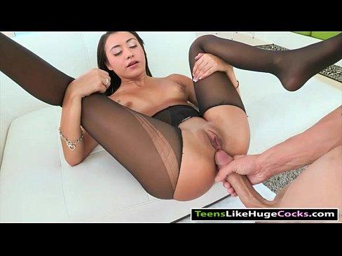 Cock pantyhose big in