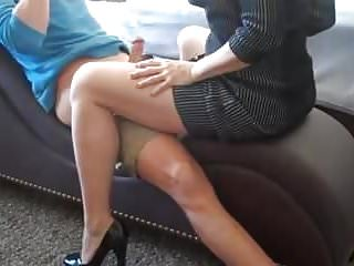Getting hand job by mom