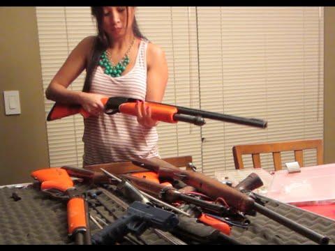 Asian girls with guns