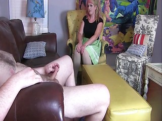 Wives amateur brunette handjob