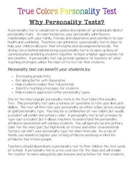 Teens christian icebreaker personality test for
