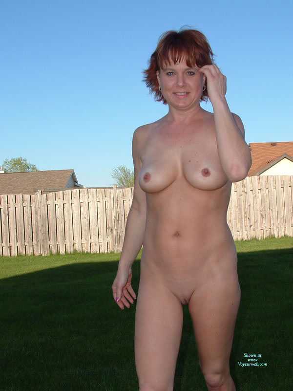 Naked in the backyard