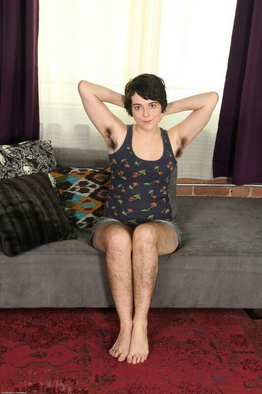 Leg women with hairy armpits