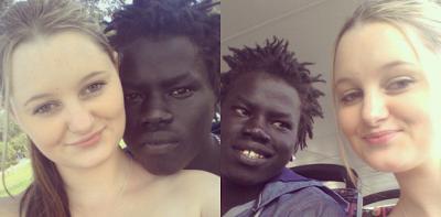 Black couple white girl