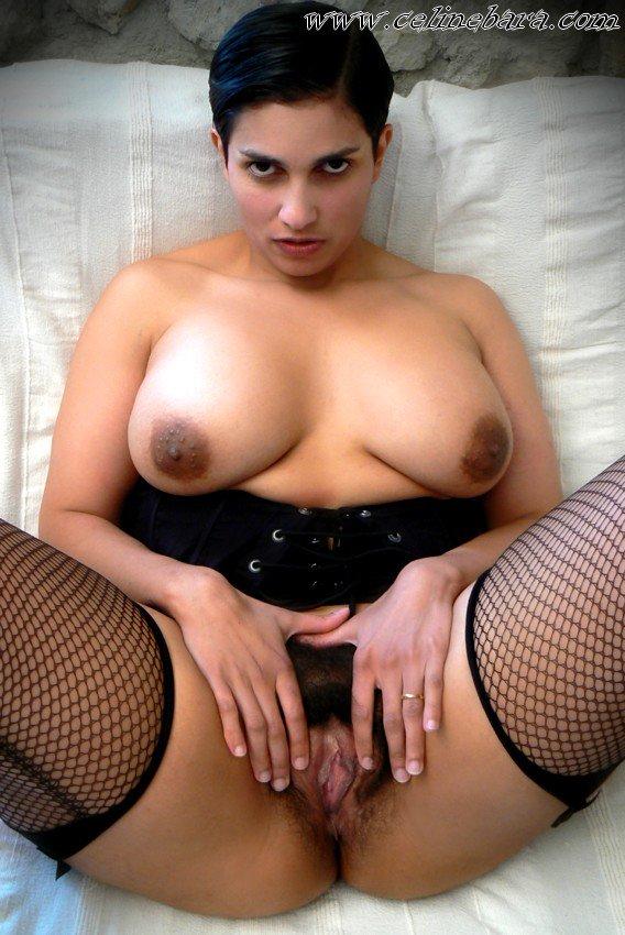 Celine bara hairy french porn star