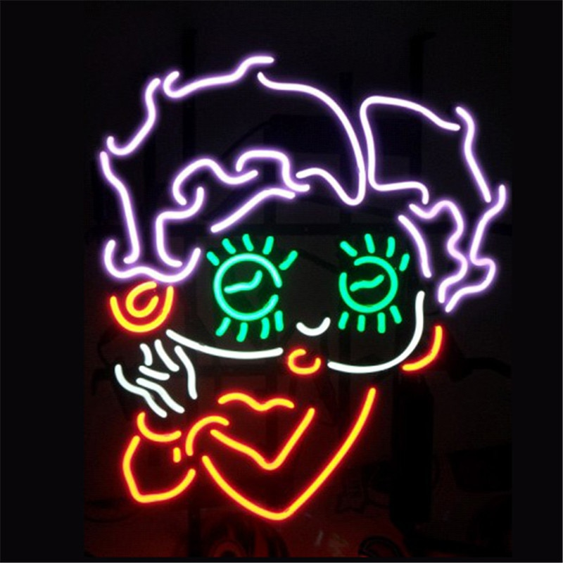 Betty boob neon lights