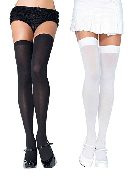 Black and white nylon stockings