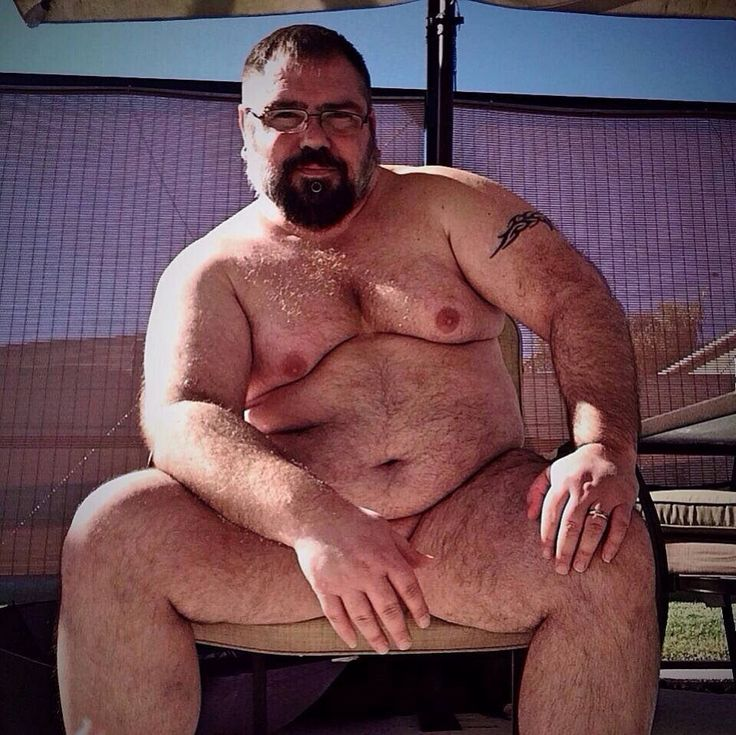 Naked hairy man big thick pubic bush