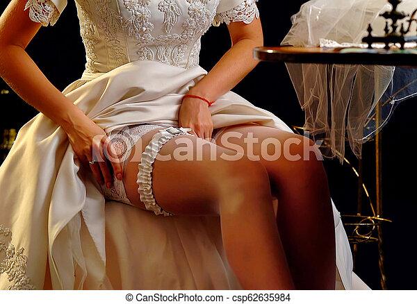 Bride on wedding night
