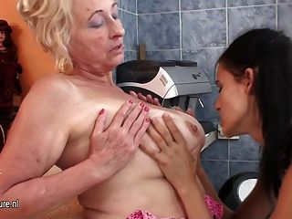 Mature lesbian and girl