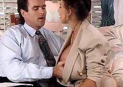 Big tits retro suit