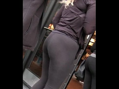 Japanese yoga pants ass candid