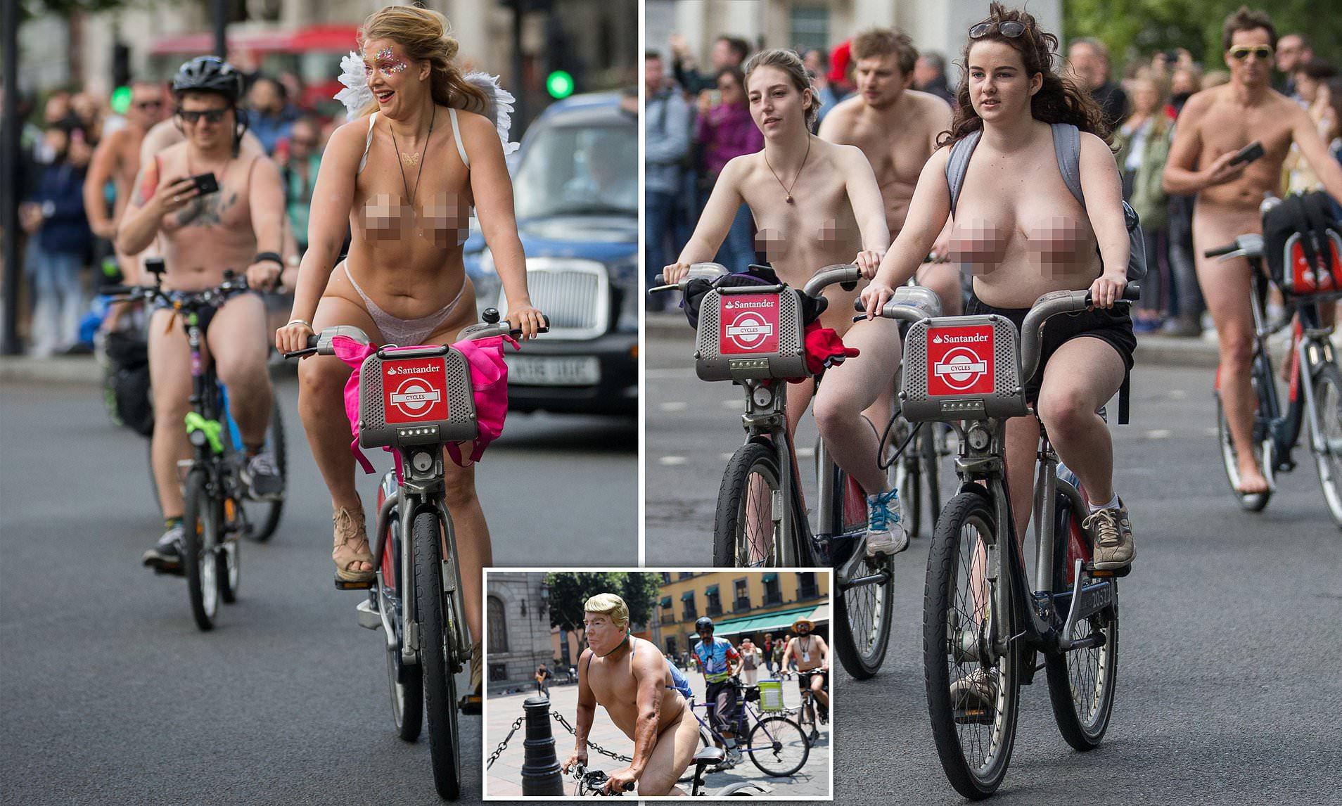 World naked bike ride women