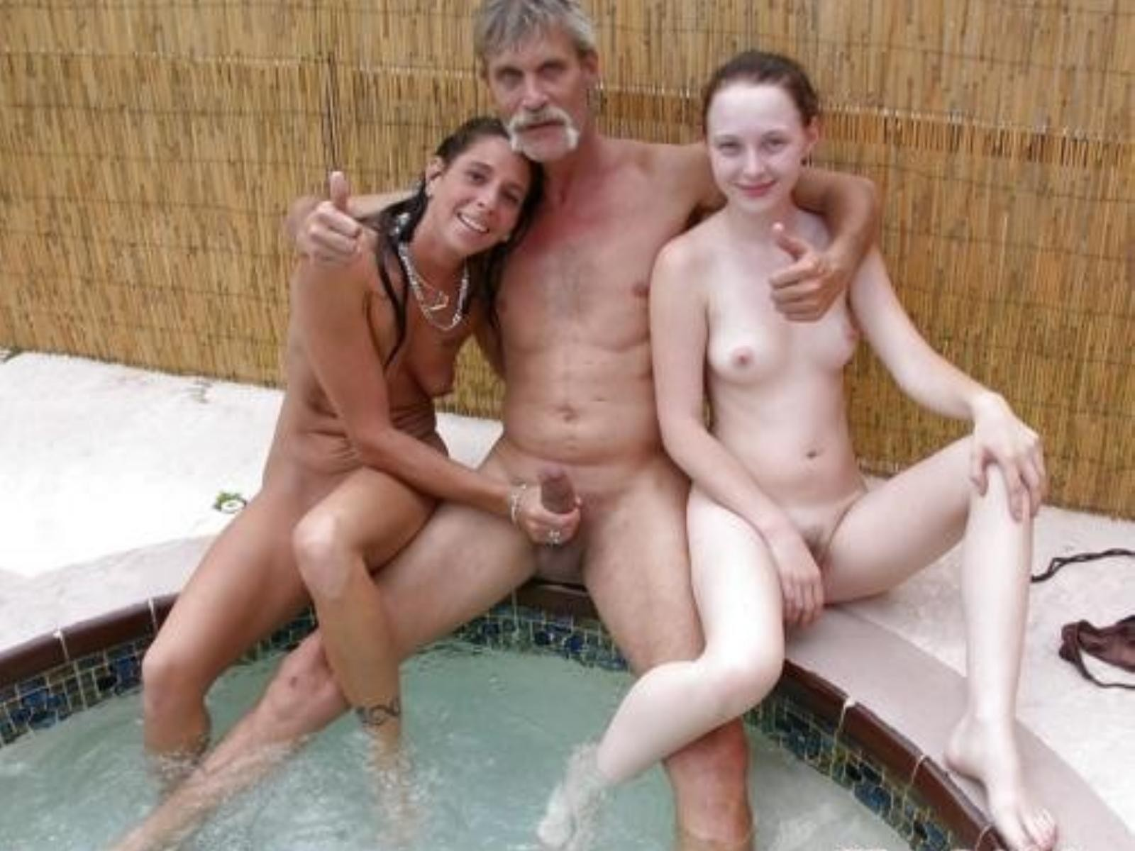 Dad mom son nude