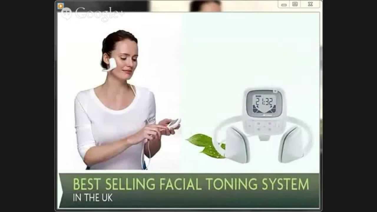 Electronic facial toning system