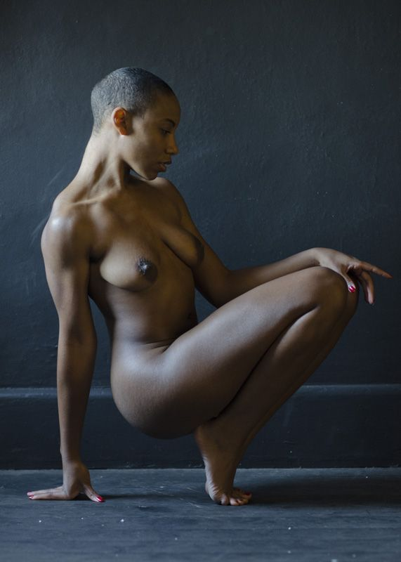 Ebony nude art models