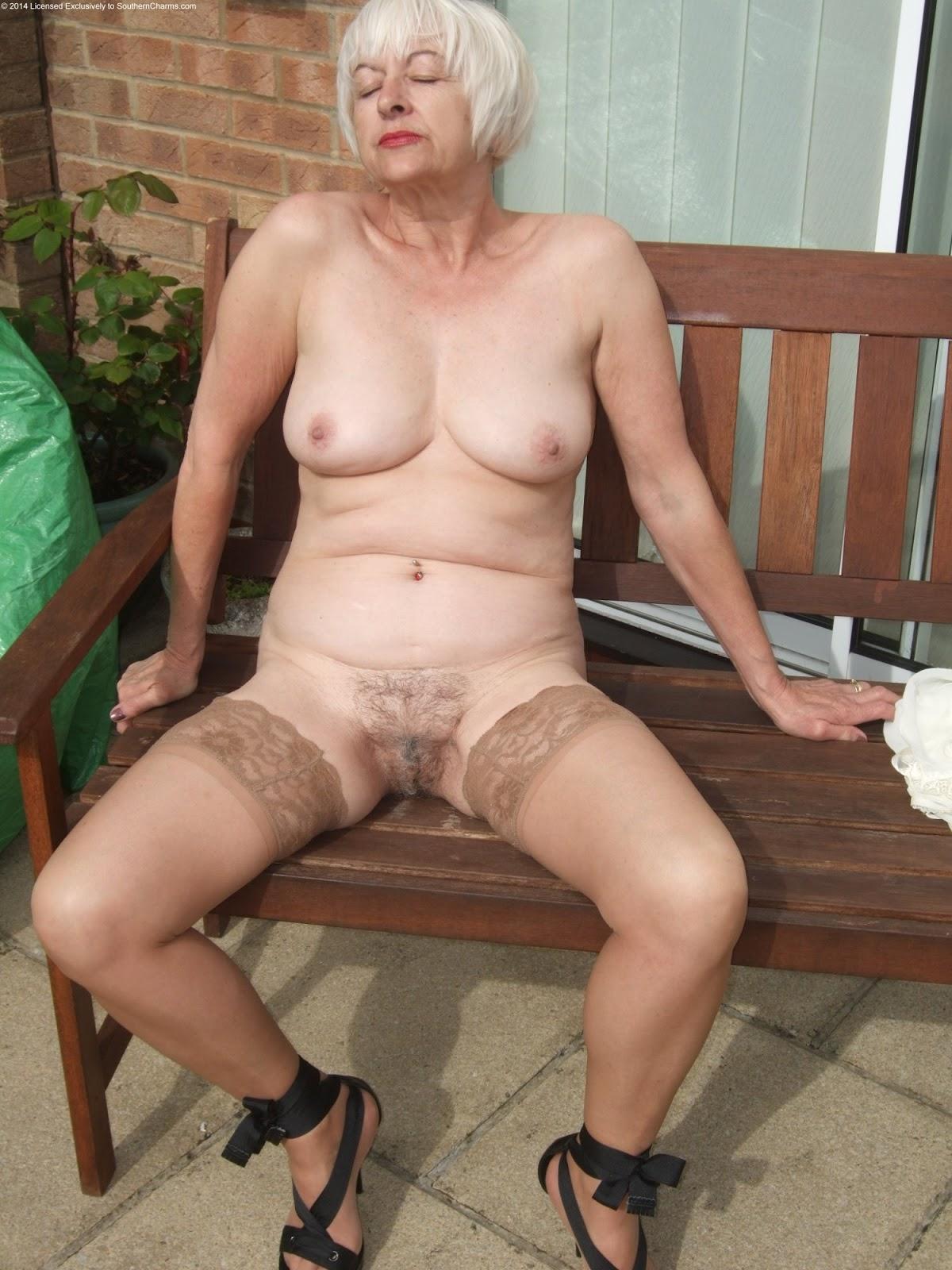 Naked old women black