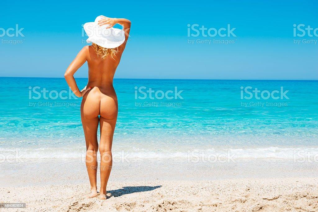 Nude women in beach