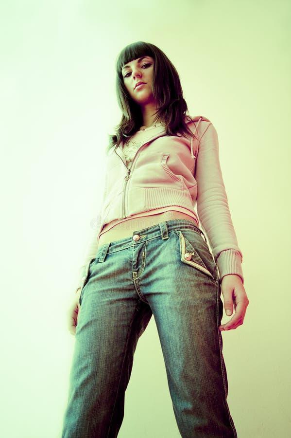 Teen girl bare midriff