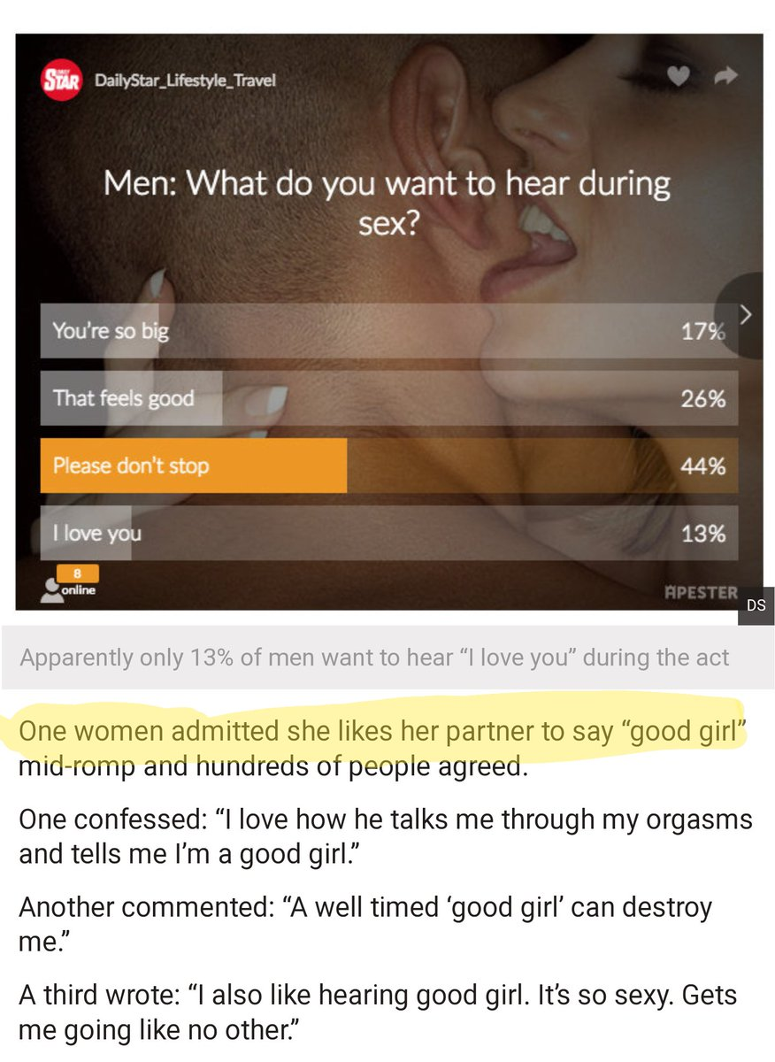 What girls want during sex