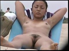 Hidden camera hairy nude beach girls