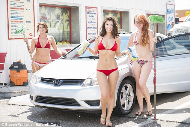 Beach on american sex car wash
