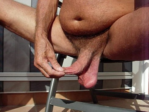 Big low hanging balls uncut cocks