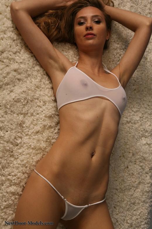 Nextdoor models white bikini